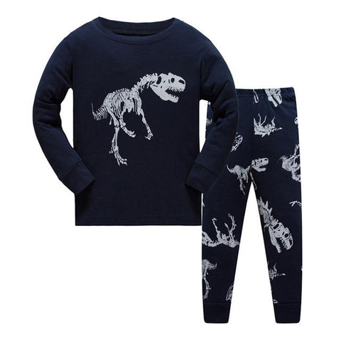 Boys Girls Cotton Pyjamas - Unicorn-Bat-Dinosaurs Prints-Lilypond Kids