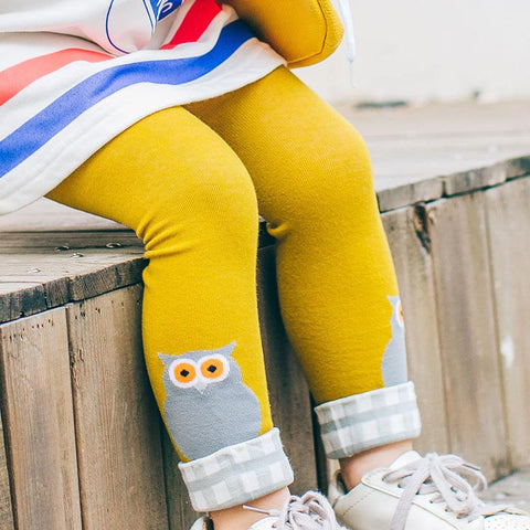 Warm Cotton Toddler Leggings - Bird Prints-Lilypond Kids