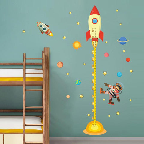 Outer Space Planet Monkey Rocket Growth Chart-Lilypond Kids