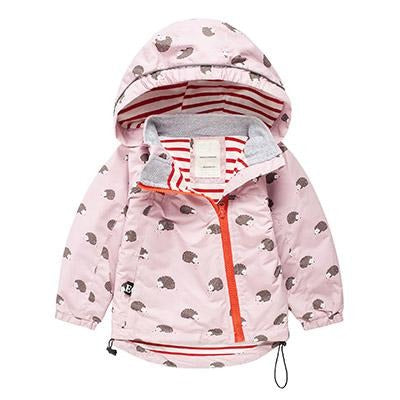 Girls Pink Hooded Hedgehog Jacket 2-7 Years-Lilypond Kids