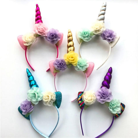 Girls Unicorn Headband-Lilypond Kids