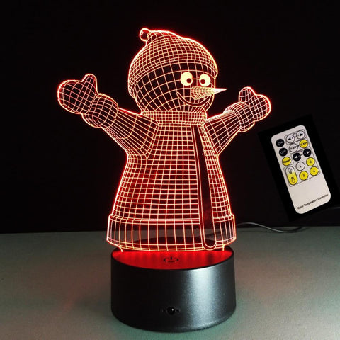 3D USB LED Snowman Night Light-Lilypond Kids