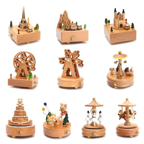 Beautiful Wooden Music Boxes - 9 Different Designs-Lilypond Kids