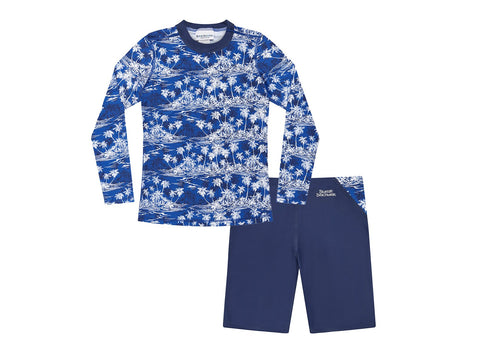 Rash Top And Jammer Pant Set - Hawaiian Palms-Lilypond Kids