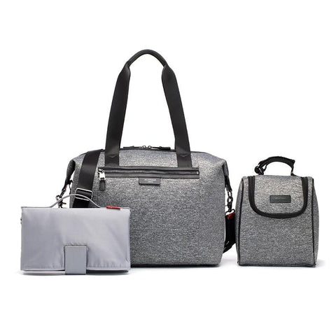 Nappy Bag - Stevie Luxe Grey Scuba-Lilypond Kids