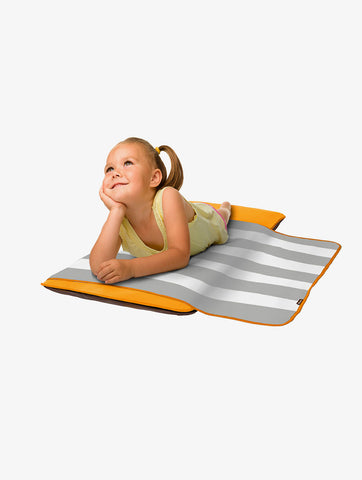 The Shrunks - Toddler 'siesta' Nap Pad - Orange (with Built-in Self-inflating Technology )-Lilypond Kids