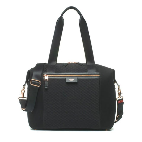 Nappy Bag - Stevie Luxe Black Scuba-Lilypond Kids