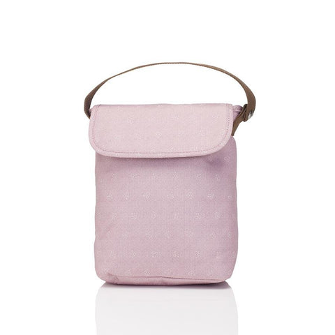 Double Bottle Holder/Food Bag - Origami Heart Dusty Pink-Lilypond Kids