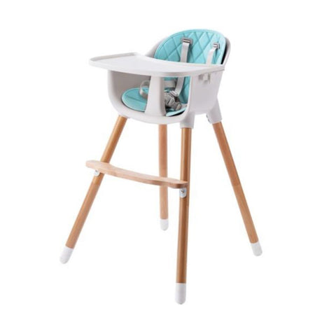 Wooden Highchair - Amelia 2-In-1 - Blue by Joy Baby-Lilypond Kids