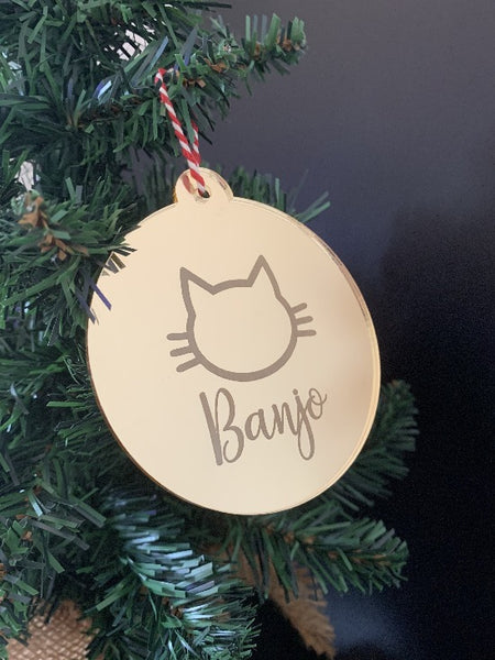 Personalised Cat Christmas Bauble
