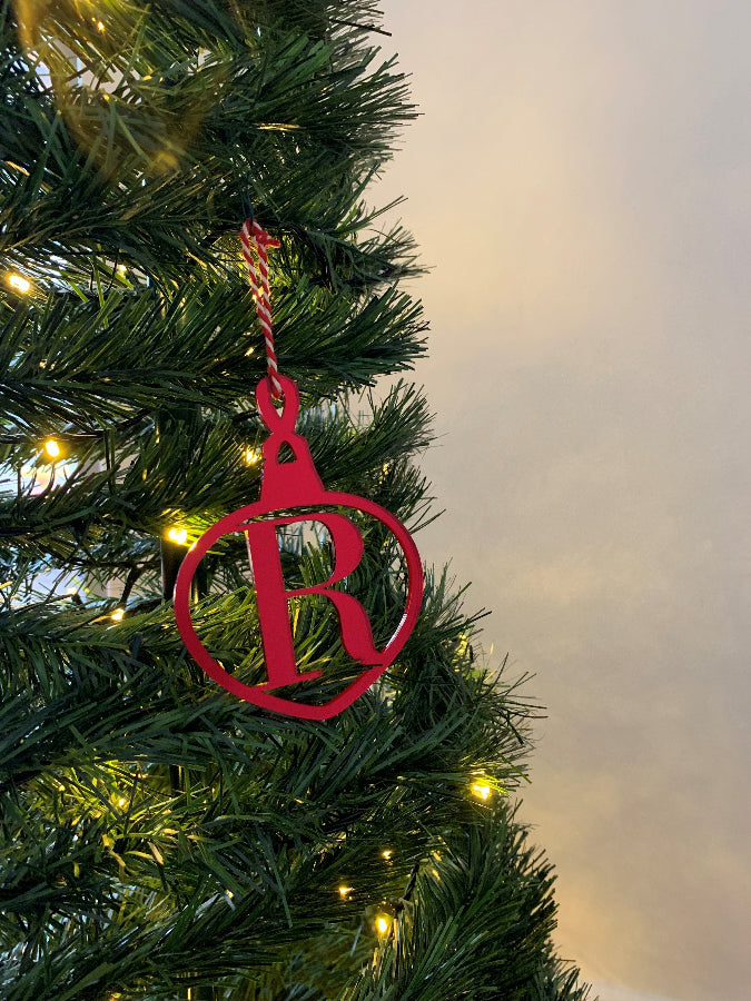Personalised Initial Only Christmas Bauble