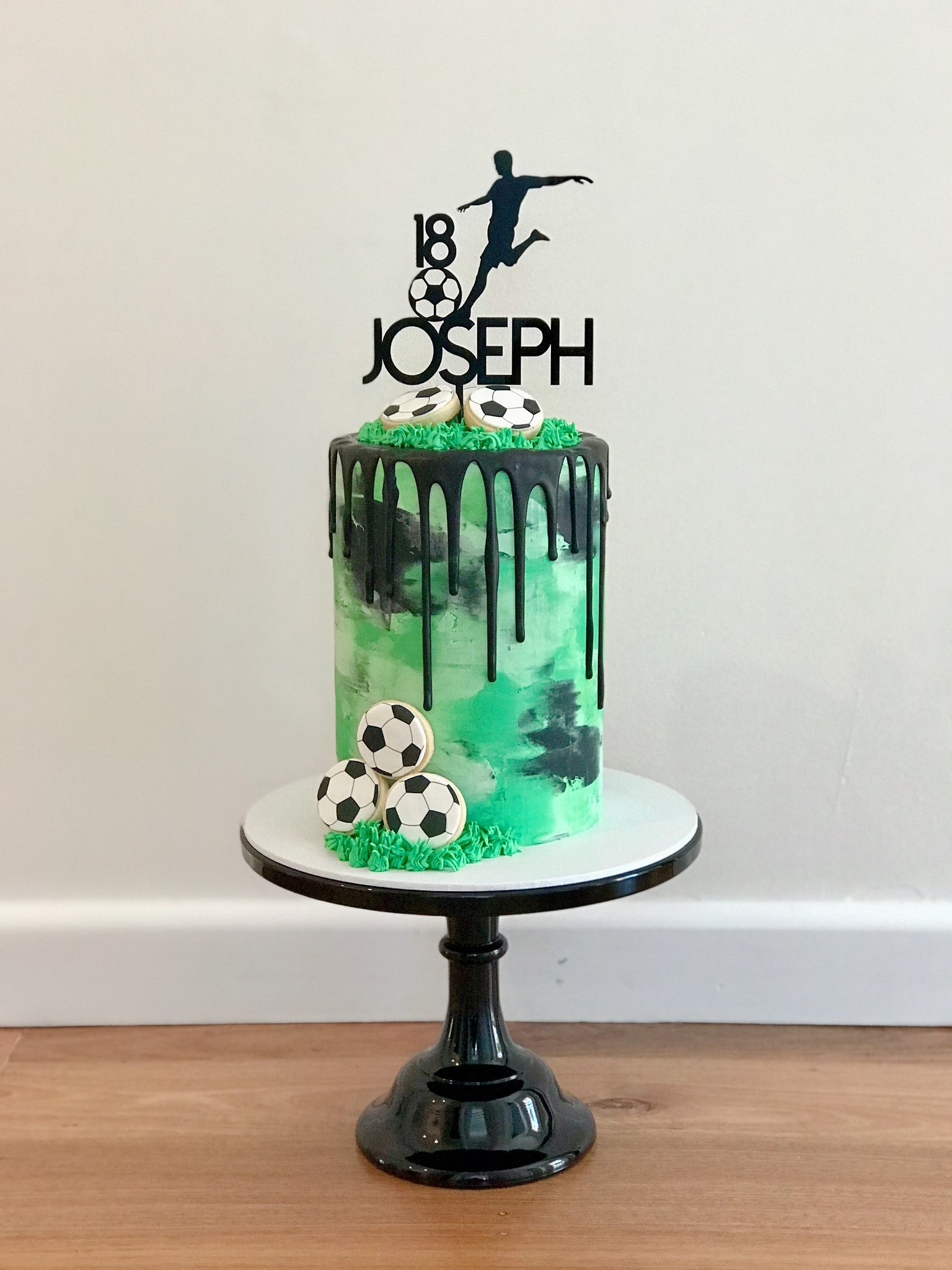 Custom Kicking Soccer Ball Topper