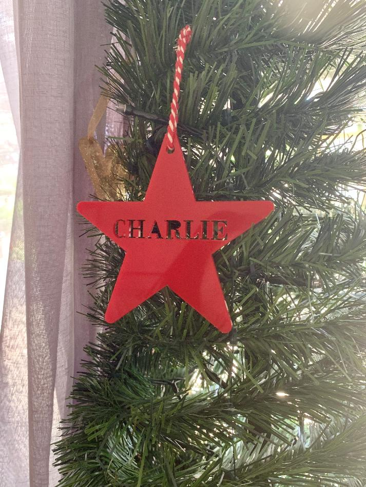 Personalised Star Christmas Ornament