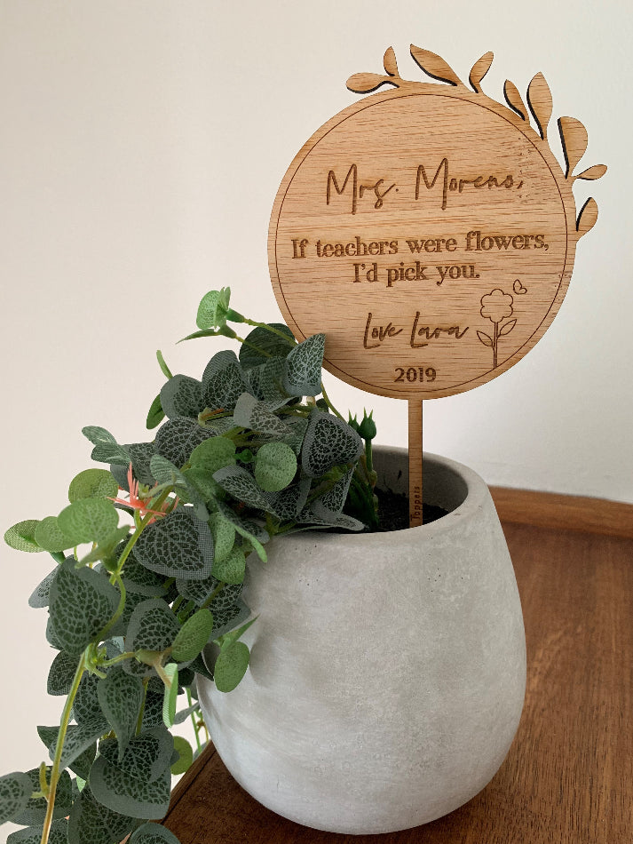 Teacher Flower Topper - Personalised