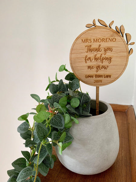 Teacher Plant Topper - Personalised