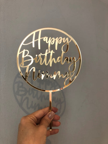 Happy Birthday Custom Name in Circle