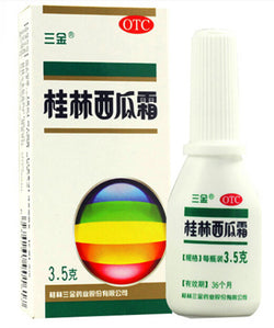 GuiLin Xi Gua Shuang Watermelon Frost Spray (3.5g) Mouth ulcer Swelling and aching of gum 桂林西瓜霜喷剂 SanJin