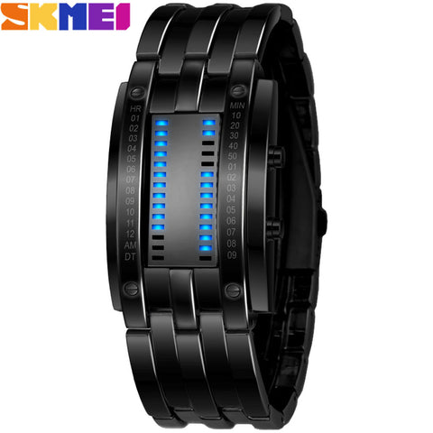 SKMEI 2016 popular Brand Men fashion creative Watches digital LED display 30M waterproof lover's Wristwatches quality alloy band