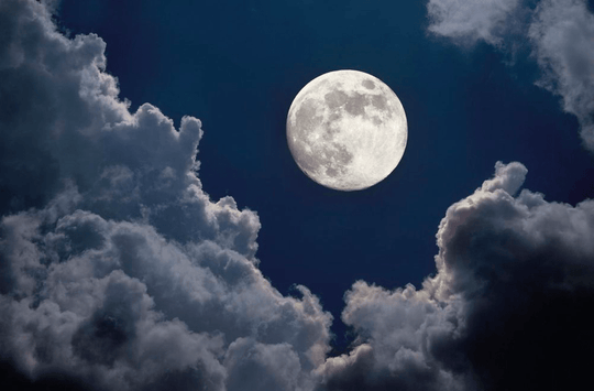 full moon, full moon in clouds, full moon ritual
