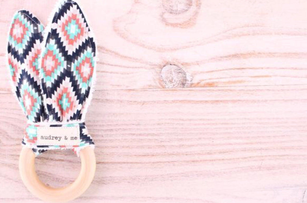 Teething Ring - Colourful Aztec