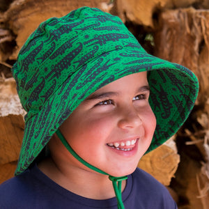 Boys Bucket Hat Crocodile Print