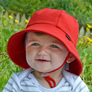 Red Baby Bucket Hat for girls & boys