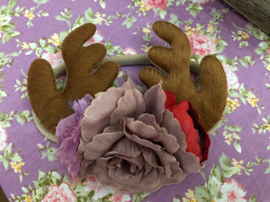 Reindeer Rose Headband