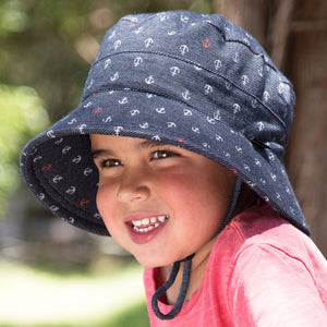 Kids Bucket Hat 'Anchor' Print