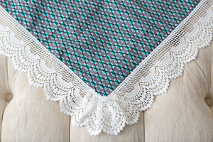 Diamond Detailed Lace Swaddle Wrap