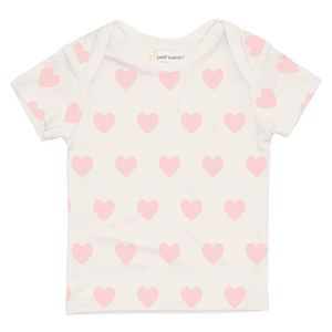 Bamboo Short Sleeve Top- Pink Hearts