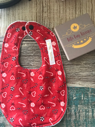 Red Candy Cane Bib