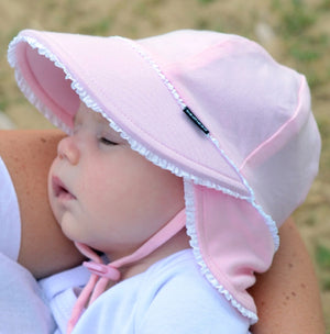 Girls Legionnaire Hat Ruffle Trim - Blush