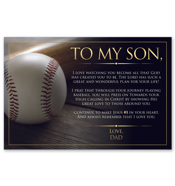 To My Son - Love Dad - Wall Art