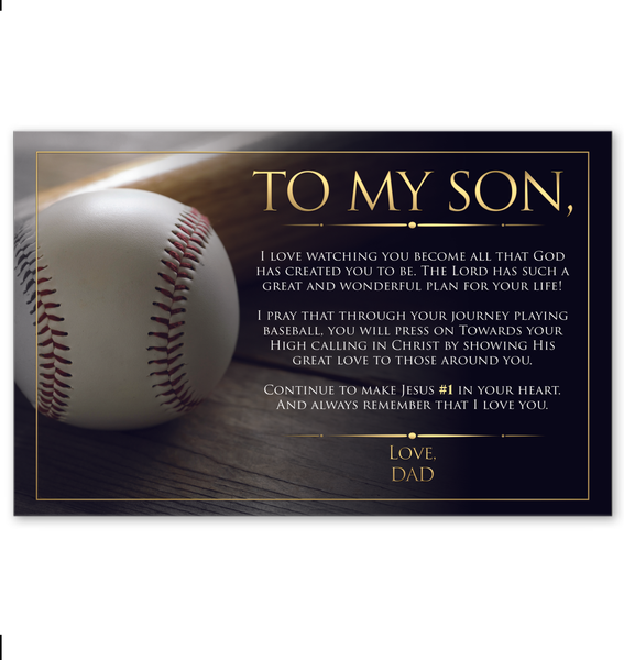 To My Son - Love Dad - Wall Art 11x17