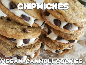 12 Chipwiches Cannoli Cookies