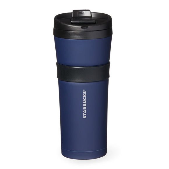 Starbucks Black & Navy Stainless Steel Tumbler, 16 Fl Oz