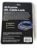 1 X Cable Lock 4 Digits