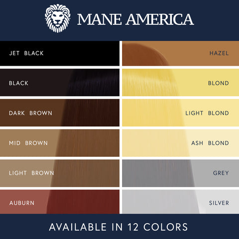 Mane America Hair Thickening Spray Color Chart