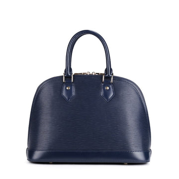 Rosaire Top Handle Bag Epi Leather with Padlock Dark Blue