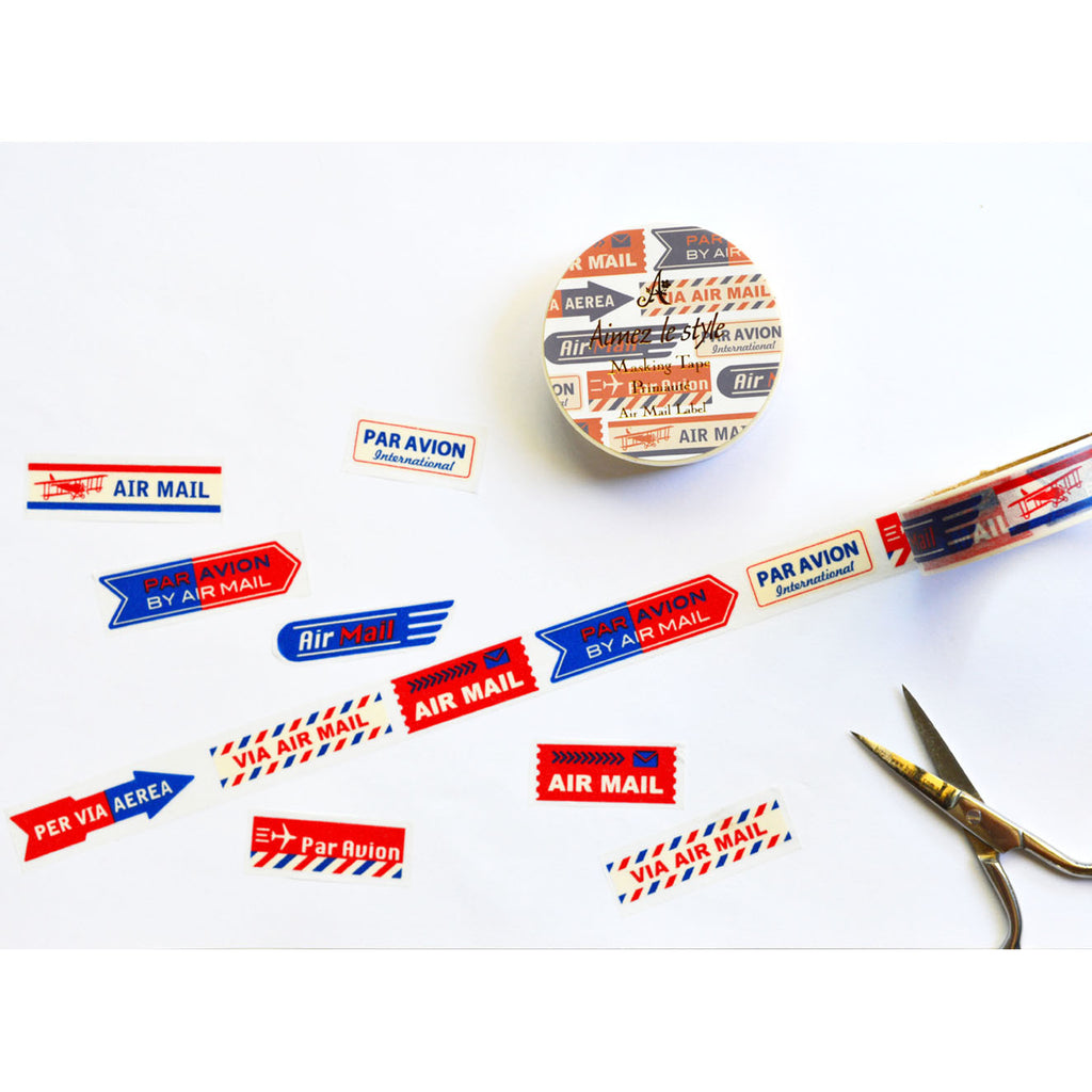 WASHI TAPE- AIRMAIL LABEL