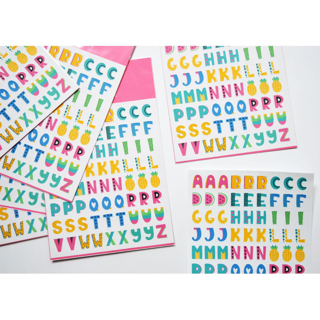 ALPHABET PLANNER STICKERS