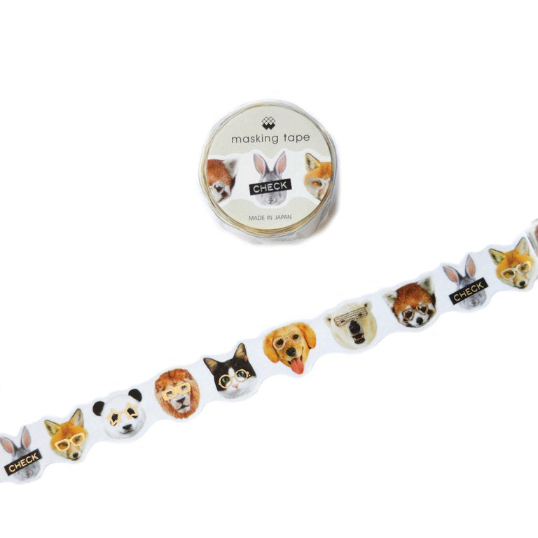 WASHI TAPE- ANIMALS CHECK