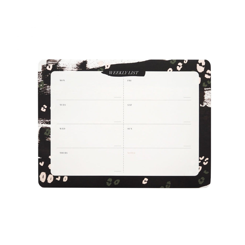 BLACK LEOPARD WEEKLY DESK PLANNER