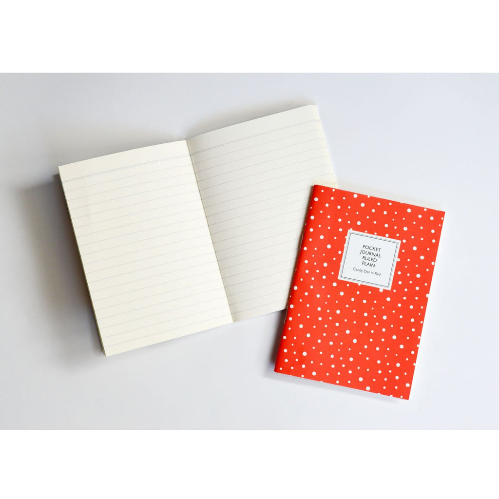 POCKET NOTEBOOK- CANDY DOT IN RED