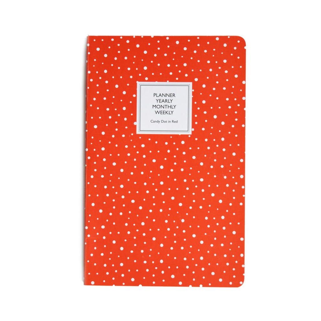 PLANNER- CANDY DOT IN RED