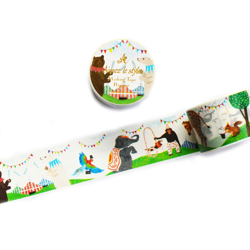 WASHI TAPE- ANIMAL CIRCUS