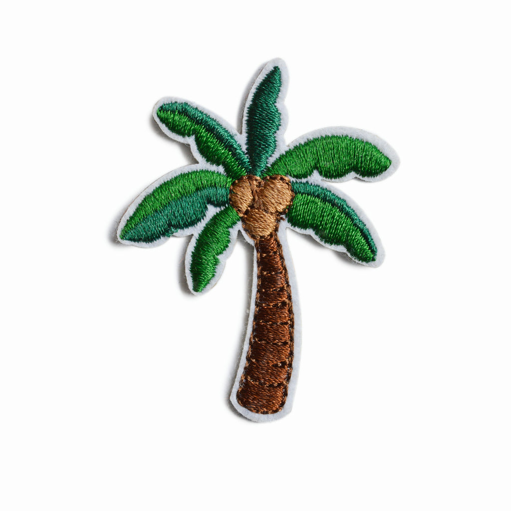 COCONUT TREE EMBROIDERED STICKER PATCH