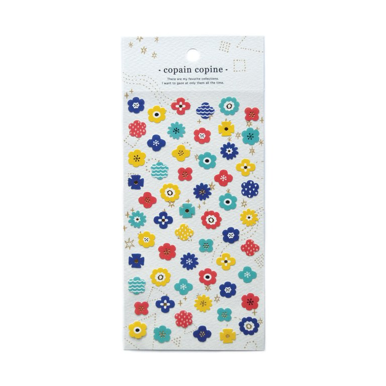 COPAIN COPINE STICKERS- FLOWERS