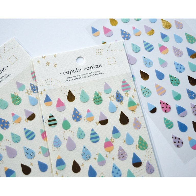 COPAIN COPINE STICKERS- TEARDROPS