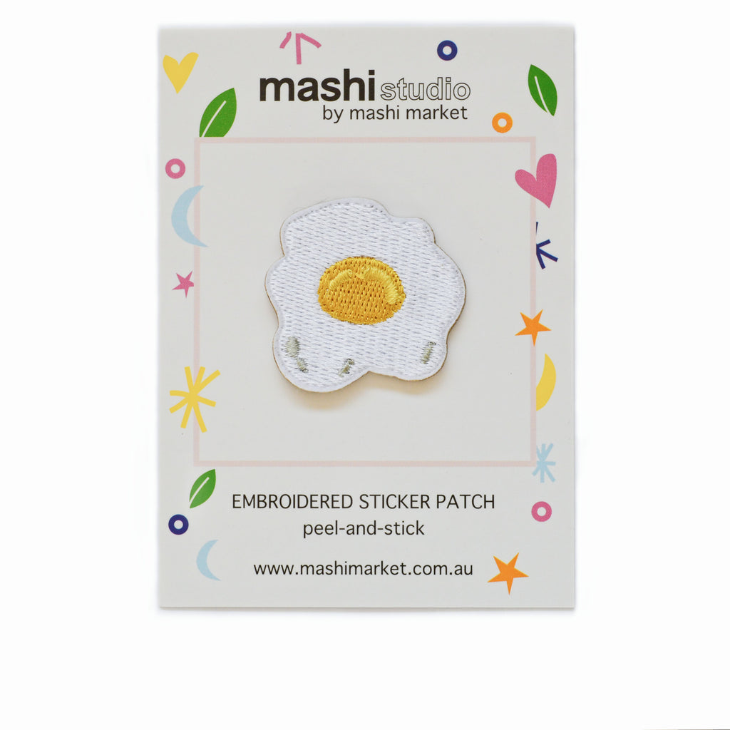 EGG EMBROIDERED STICKER PATCH